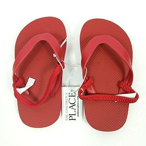 NWT The Children's Place Red Sandals Sz 8-9